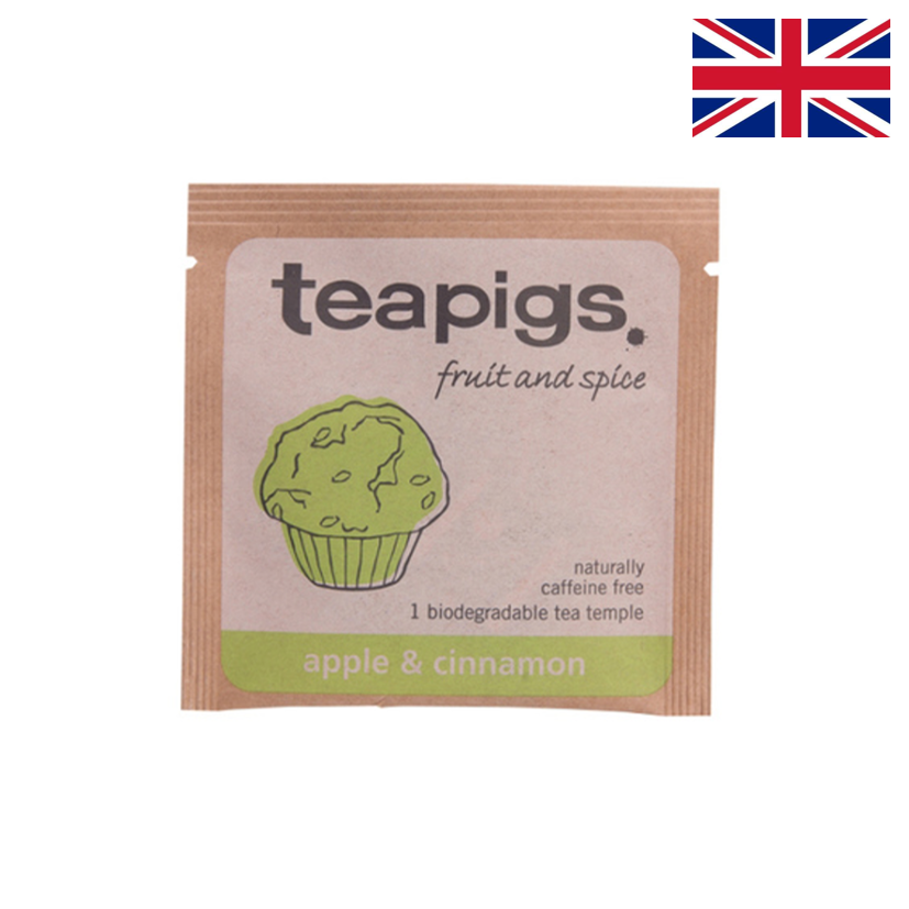TEAPIGS - Infusion - Pomme & cannelle - Boîte 50 sachets individuels
