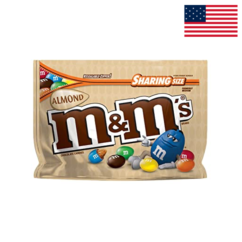 M&MS - ALMOND - STAND UP BAG - 263,7 G