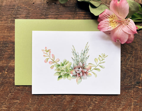Succulent Cards Pack (5)