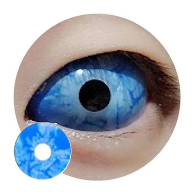 Sweety Blue Sclera Ice Zombie-Sclera Contacts-UNIQSO