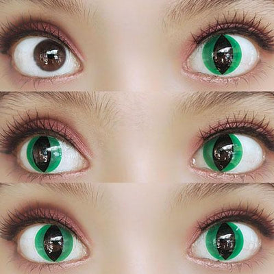 Sweety Crazy Lens - Cat Eye Green - Daily Disposable-UNIQSO