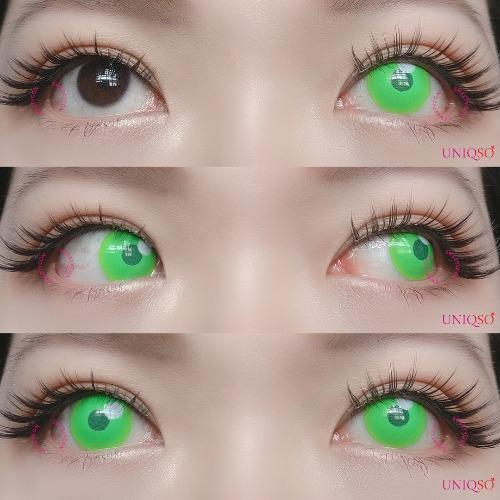 Sweety - Anime Cloud Green-Colored Contacts-UNIQSO