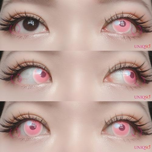 Sweety - Anime Cloud Pink-Colored Contacts-UNIQSO