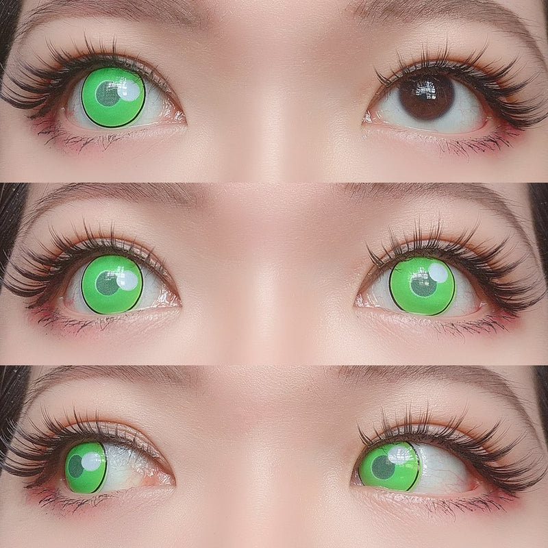 Sweety - Anime Cloud Rim Green - Demon Slayer - Mitsuri Karonji-Colored Contacts-UNIQSO
