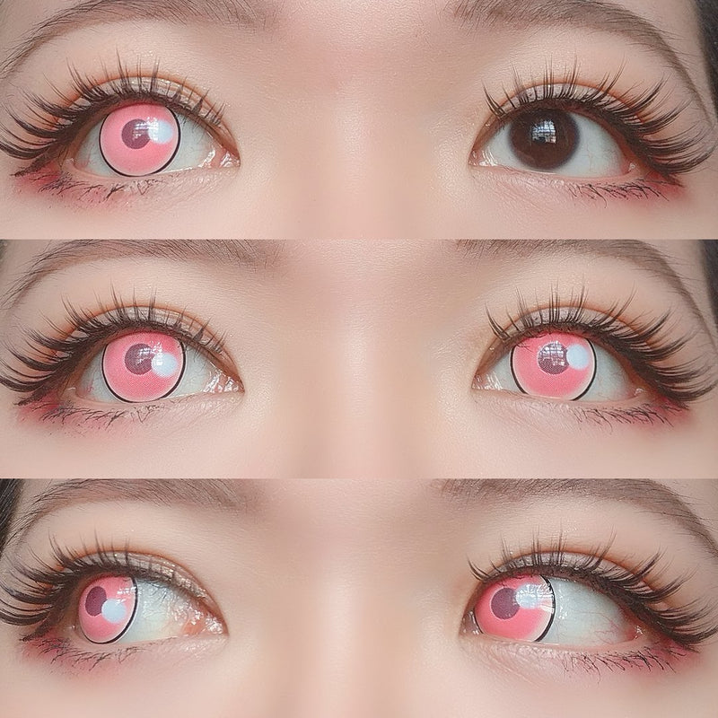 Sweety - Anime Cloud Rim Pink (Demon Slayer - Nezuko Kamado)-Colored Contacts-UNIQSO