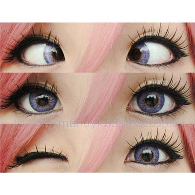 Barbie Puffy 3 Tones Violet-Colored Contacts-UNIQSO