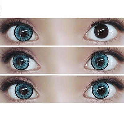 Sweety Queen Dark Grey-Colored Contacts-UNIQSO