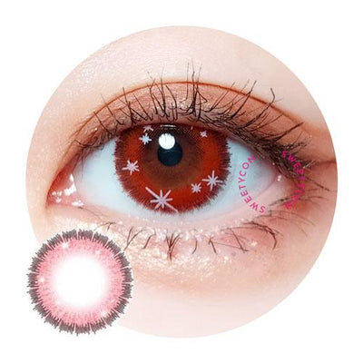 Sweety Glänzen Eye Red-Colored Contacts-UNIQSO