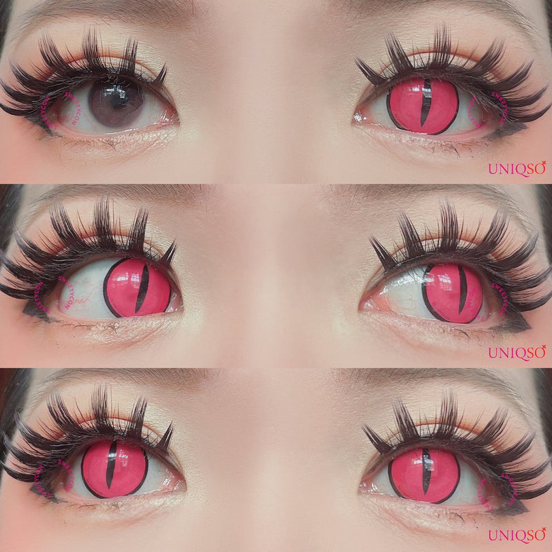 Sweety Crazy Lens Pink Demon Eye-Crazy Contacts-UNIQSO
