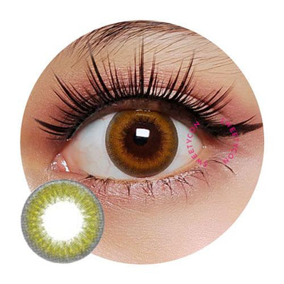 Sweety Glitter Brown-Colored Contacts-UNIQSO