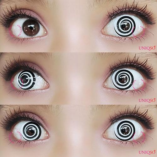 Sweety Crazy Lens - Black Spiral-Crazy Contacts-UNIQSO