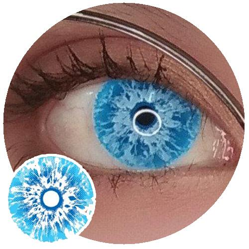 Sweety Crazy Lens Game of Thrones - White Walker (UV)-UV Contacts-UNIQSO