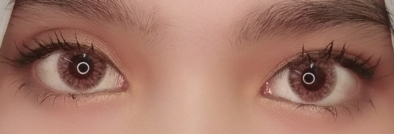 EOS Rosy Pink Brown-Colored Contacts-UNIQSO