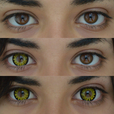 Sweety Firefly Yellow-Colored Contacts-UNIQSO