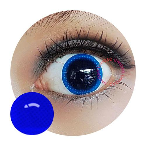 Sweety Crazy Lens - Blue Mesh / Blue Screen-UNIQSO