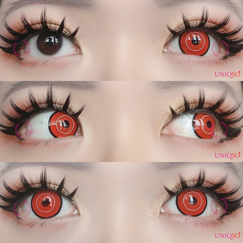 Sweety Mawaru Red-Colored Contacts-UNIQSO