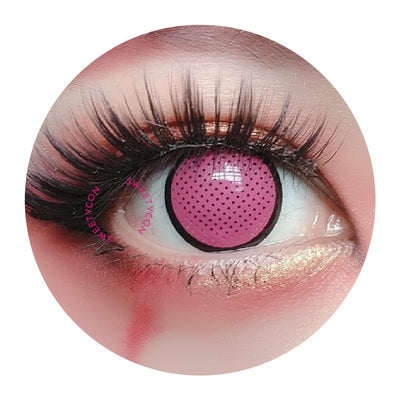 Sweety Crazy Lens - Pink Mesh/Screen with Black Rim-UNIQSO