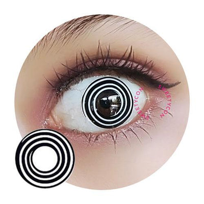 Sweety Crazy Lens - Black Spiral II-Crazy Contacts-UNIQSO