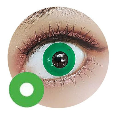 Sweety Crazy Lens - Solid Green - Daily Disposable-UNIQSO