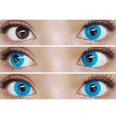 Sweety Crazy Lens - Solid Blue-Crazy Contacts-UNIQSO
