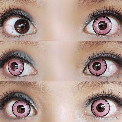 Sweety Crazy Lens - Vampire Pink-UNIQSO