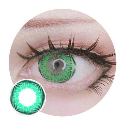 Sweety Free Green-Colored Contacts-UNIQSO