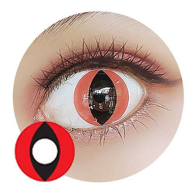 Sweety Crazy Lens - Cat Eye Red - Daily Disposable-Crazy Contacts-UNIQSO