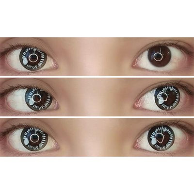 Sweety Anime Black-Colored Contacts-UNIQSO