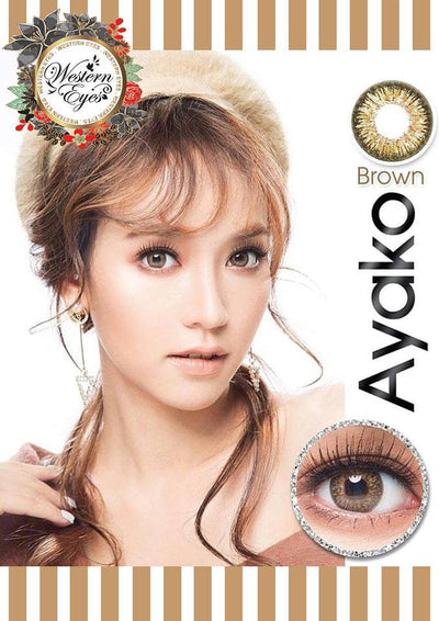 Western Eyes Ayako Brown-Colored Contacts-UNIQSO