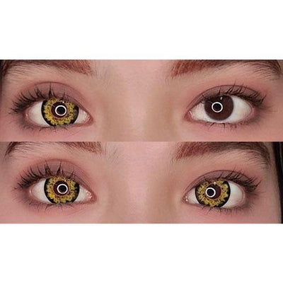 Sweety Butterfly Yellow-Colored Contacts-UNIQSO