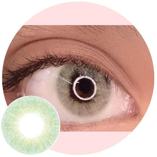 Urban Layer Cloud Light Green-Colored Contacts-UNIQSO