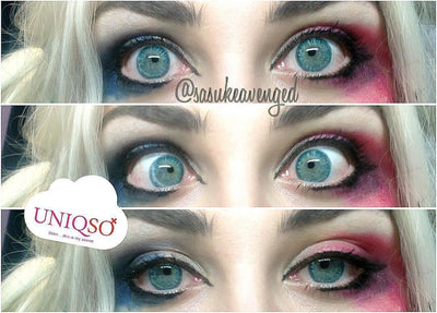 EOS Pastel Blue-Colored Contacts-UNIQSO