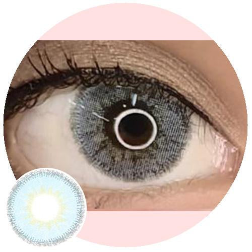 EOS Fuzzy Blue-Colored Contacts-UNIQSO