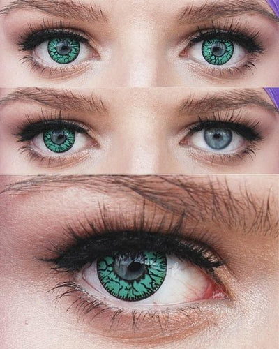 Sweety Crazy Lens - Green Blood Eyes - Daily Disposable-UNIQSO