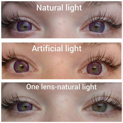 Sweety Galaxy Violet-Colored Contacts-UNIQSO