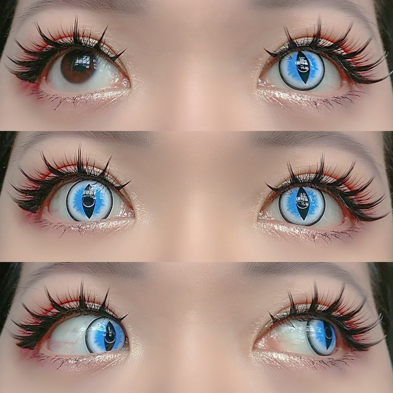 Sweety Crazy Lens - Sexy Cat Eye Blue-UNIQSO