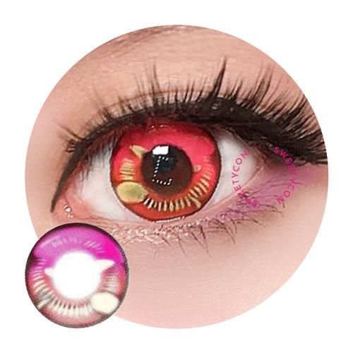 Sweety Anime Pink-Colored Contacts-UNIQSO