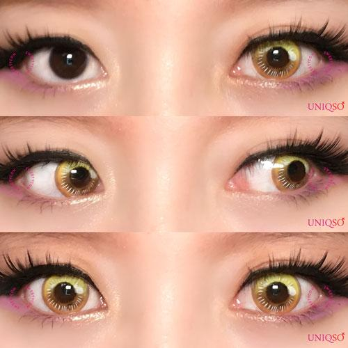 Sweety Anime Yellow-Colored Contacts-UNIQSO