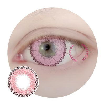 Sweety Lucky Girl Pink II-Colored Contacts-UNIQSO