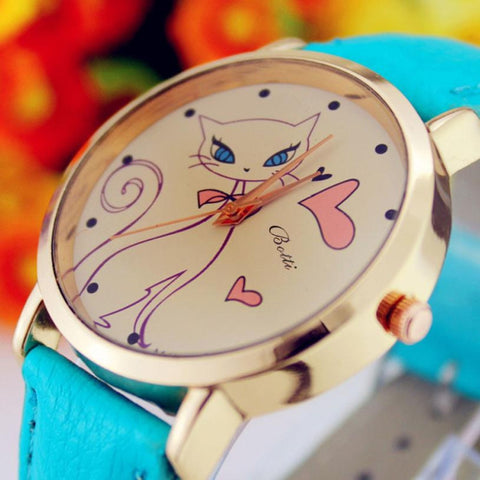 Image of Montre Chat Coeur - MiaouCat