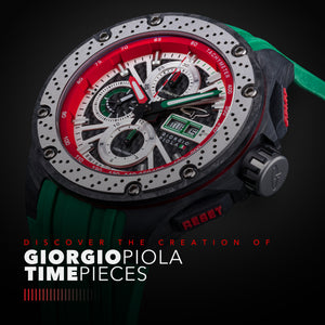 G5 - Green Automatic Carbon Fiber Sport Chrono Watch
