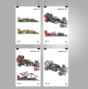 Giorgio Piola's Legacy Poster Collection - SENNA