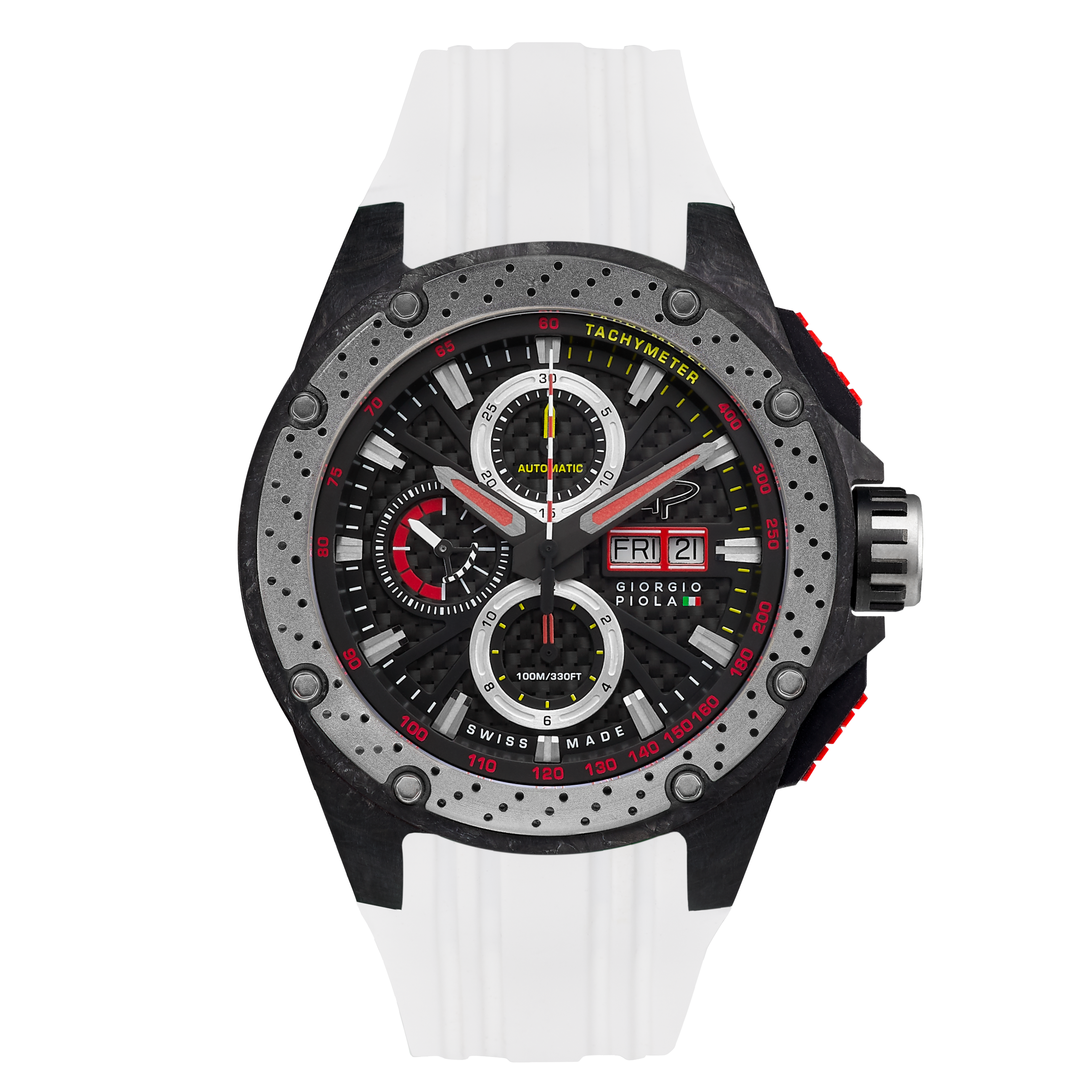 G5 - Black - White Titanium Sport Chrono Watch