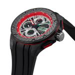 G5 - Black-Green Automatic Carbon Fiber Swiss Sport Chrono Watch
