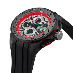 G5 - Green - Black Automatic Carbon Fiber Swiss Sport Chrono Watch