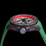 G5 - Green Automatic Carbon Fiber Swiss Sport Chrono Watch