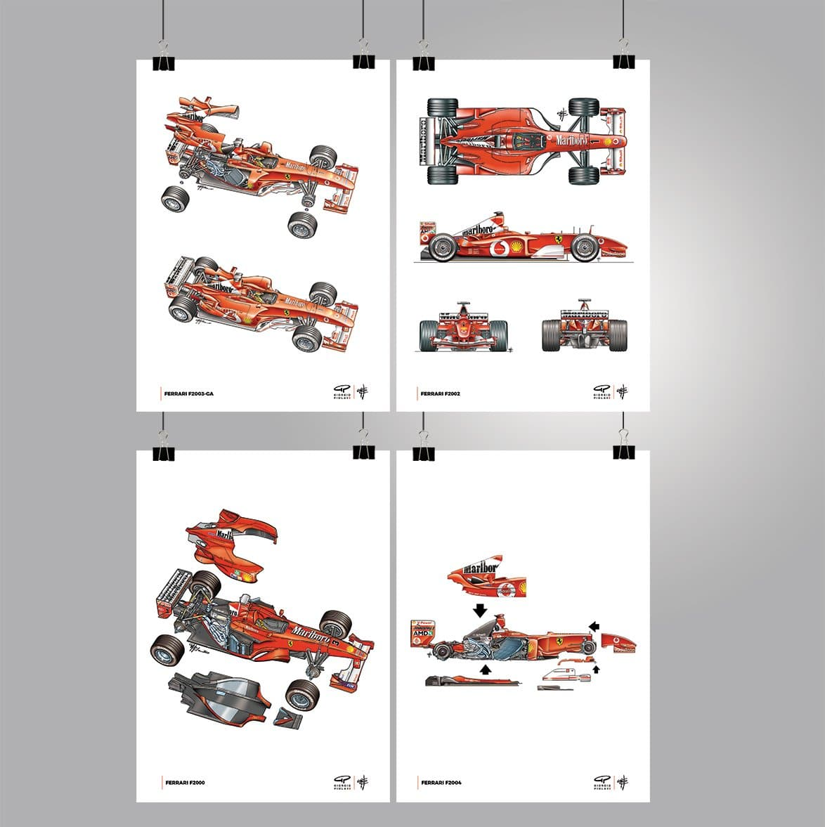 Ferrari Schumacher F1 Poster Collection