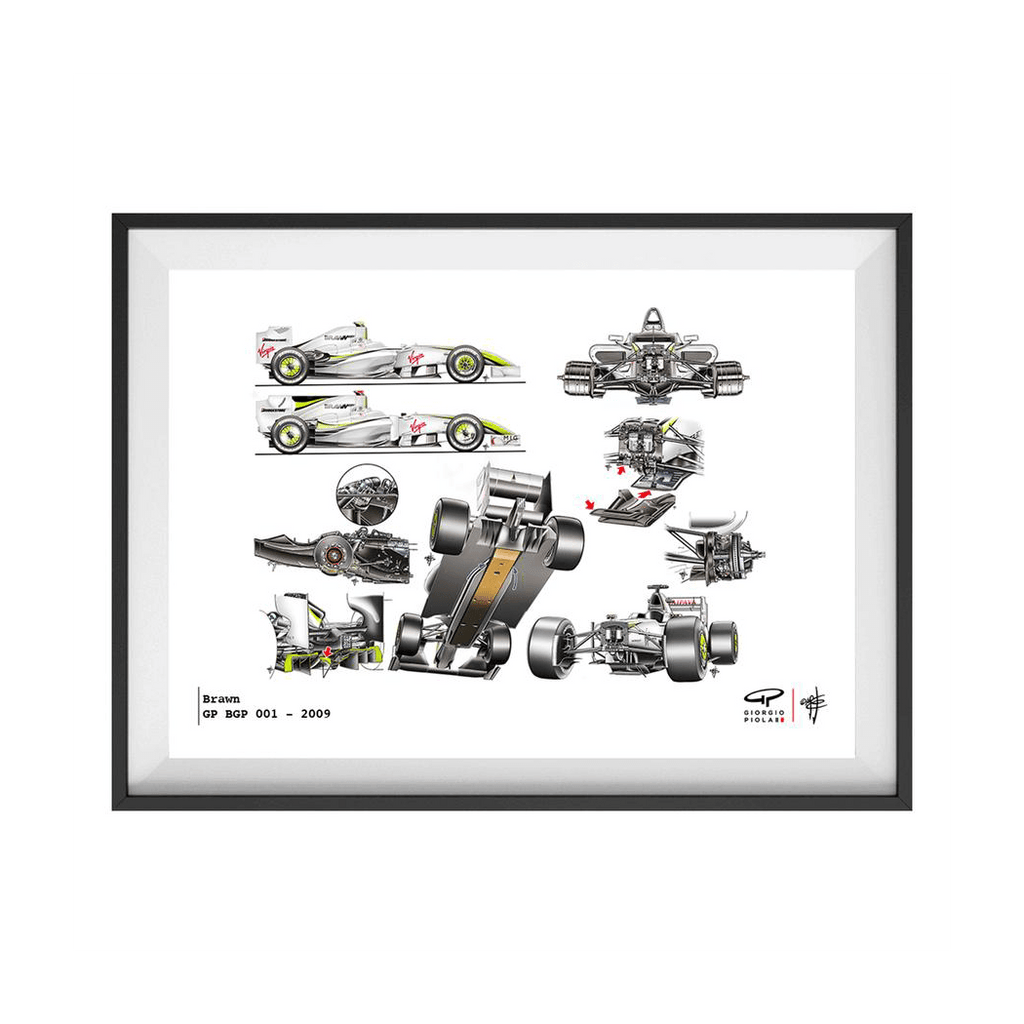 Brawn GP BGP 001 F1 Art Print