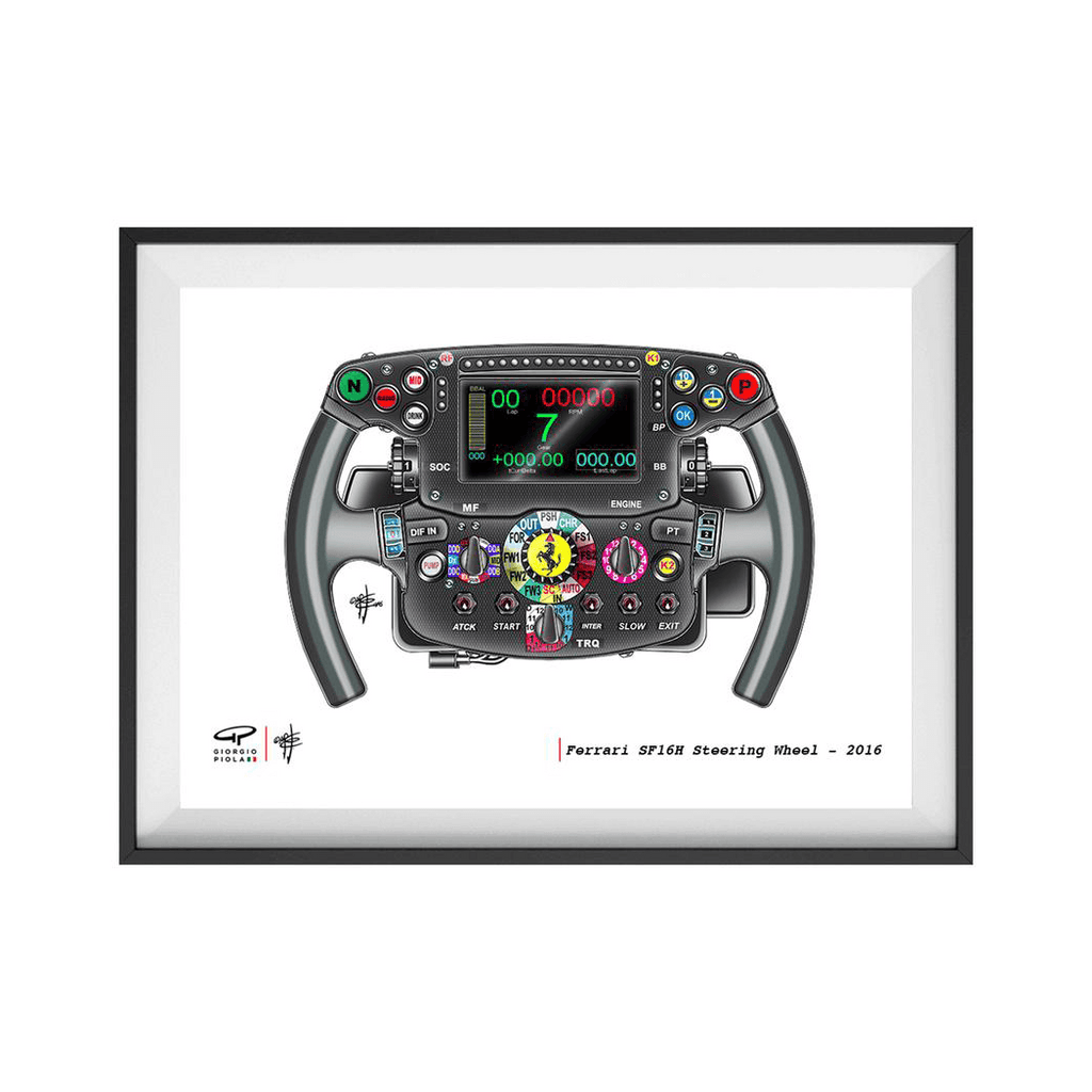 Ferrari Steering Wheel F1 Art Print