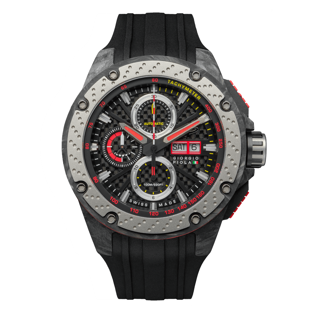 G5 - Black Automatic Carbon Fiber Swiss Sport Chrono Watch